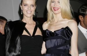 REPORTAGE PHOTOS : Claudia Schiffer et Eva Herzigova, deux étoiles glamour au défilé rock de Vivienne Westwood...