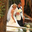 Exclusif - Mariage de Jason Wahler et Ashley Slack au ranch de Calamigos a Malibu, le 12 octobre 2013.