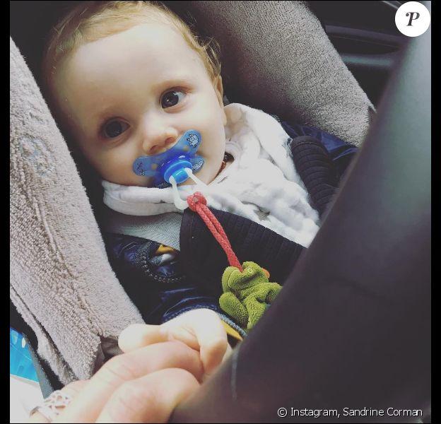Sandrien Corman, fier de son petit Harold (9 mois), le 3 août 2016.