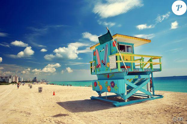 Miami, une des destinations de prédilections des footballeurs en vacances. Bacary Sagna est allé s'y ressourcer après l'Euro, avec son épouse Ludivine.