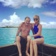 Johnny Hallyday et Laeticia en vacances à Bora Bora en avril 2016
