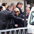 Claude Chirac - Obsèques de Laurence Chirac, la fille de Jacques et Bernadette Chirac en la chapelle de Jésus-Enfant de la basilique Sainte-Clotilde à Paris, le 16 avril 2016.