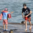 Pablo Nicolas Urdangarin - Les enfants de la famille royale d'Espagne lors de leur dernier jour de cours de voile à Majorque. Le 5 août 2016  Spanish young royals celebrate end of sailing classes at Calanova Club sailing school in Mallorca. August 5, 201605/08/2016 -