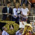 L'infante Elena d'Espagne assistait le 4 août 2016 à une corrida à Palma de Majorque avec ses enfants Felipe Froilan et Victoria... Photo by Cati Caldera/EFE/ABACAPRESS.COM