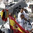 Le roi Felipe VI d'Espagne a eu l'occasion de barrer le voilier Aifos au dernier jour de la Copa del Rey à Palma de Majorque le 6 août 2016