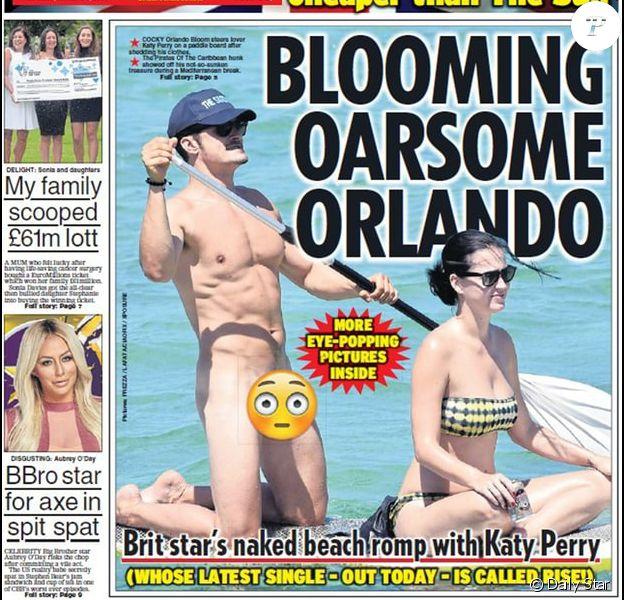 """Couverture du tabloïd britannique """"Daily Star""""."""