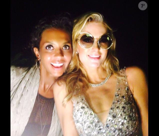 Karine Le Marchand et Paris Hilton, réunies le 3 août dernier à Ibiza.