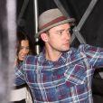Justin Timberlake et sa femme Jessica Biel à la sortie du club The Nice Guy à Los Angeles, le 8 août 2016