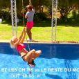 """Jessica et Virgile dans le pré-générique des """"Marseillais et les Ch'tis VS Le reste du monde"""", août 2016"""