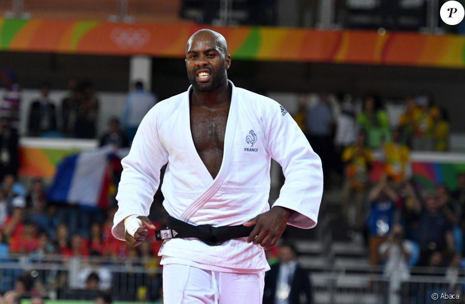 Teddy Riner durant les Jeux Olympiques de Rio 2016, le 11 aôut 2016