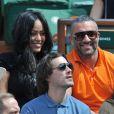 Amel Bent et son mari Patrick Antonelli aux Internationaux de France de tennis de Roland Garros à Paris, le 5 juin 2014.