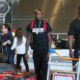 Exclusif - Freddie Gibbs à l'aéroport de Roissy-Charles-de-Gaulle, le 3 juillet 2015.