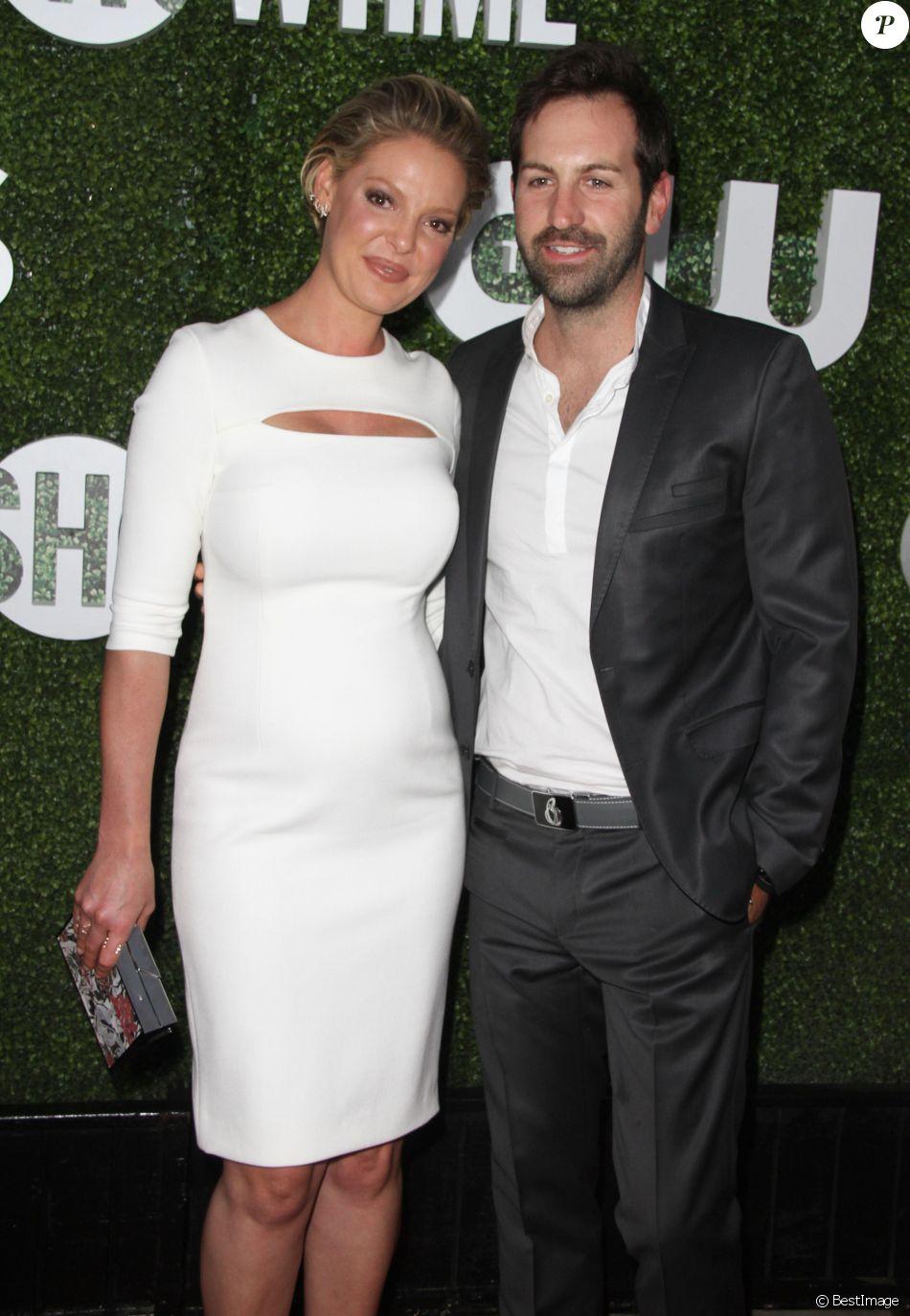 """Katherine Heigl (enceinte) et son mari Josh Kelley à la soirée """"CBS Television Studios Summer"""" au centre Pacific Design à West Hollywood, Californie, Etats-Unis, le 10 août 2016."""