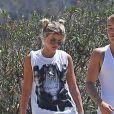 Justin Bieber et Sofia Richie se baladent ensemble sur les hauteurs de Hollywood le 10 août 2016
