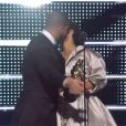 Drake et Rihanna sur la scène des MTV Video Music Awards 2016 au Madison Square Garden à New York le 28 août 2016