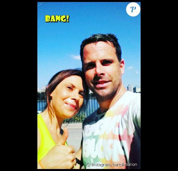 Marion Bartoli s'entraîne pour le marathon de New York avec son coach sportif. Photo publiée sur Instagram, le 28 août 2016