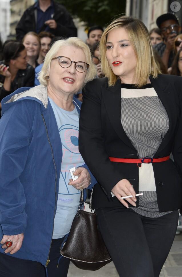 Josiane Balasko et sa fille Marilou Berry à Paris. Le 3 juillet 2013