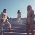 Kim Kardashian et ses soeurs Kendall et Kylie Jenner à la présentation de la quatrième collection de Yeezy, la marque de Kanye West. Photo publiée sur Instagram le 7 septembre 2016