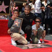 Usher : Icône étoilée en présence de ses deux petits garçons
