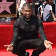 Usher inaugure son étoile sur le Walk of Fame à Hollywood, le 7 septembre 2016.