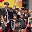 Usher en famille avec sa femme Grace Miguel et ses enfants Naviyd Raymond et Usher Raymond V -Usher inaugure son étoile sur le Walk of Fame à Hollywood, le 7 septembre 2016.