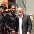 Terry Lewis, Usher et Harvey Weinstein -Usher inaugure son étoile sur le Walk of Fame à Hollywood, le 7 septembre 2016.