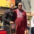 Usher et Stevie Wonder -Usher inaugure son étoile sur le Walk of Fame à Hollywood, le 7 septembre 2016.