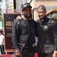will.i.am et Usher -Usher inaugure son étoile sur le Walk of Fame à Hollywood, le 7 septembre 2016.