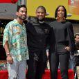 Miguel, Usher et Kelly Rowland -Usher inaugure son étoile sur le Walk of Fame à Hollywood, le 7 septembre 2016.