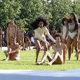 """Défilé """"Yeezy season 4"""" de Kanye West au Franklin D. Roosevelt Four Freedoms Park à New York le 7 septembre 2016."""