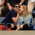 Jason Biggs et sa femme Jenny Mollen lors des demi-finales hommes à l'US Open à New York le 9 septembre 2016.