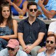 Justin Bartha et sa femme Lia Smith lors des demi-finales hommes à l'US Open à New York le 9 septembre 2016.
