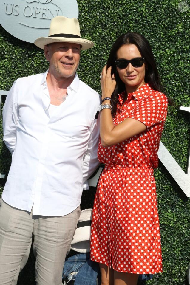 Bruce Willis et sa femme Emma à l'USTA Billie Jean King National Tennis Center à Flushing Meadows lors des demi-finales hommes à l'US Open le 9 septembre 2016. © John Barrett/Globe Photos/Zuma Press/Bestimage