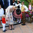 Le prince Albert II et la princesse Charlene de Monaco ont pris part avec leur fils le prince -héréditaire Jacques de Monaco au traditionnel pique-nique (cavagnëtu) de rentrée organisé le 10 septembre 2016 pour les Monégasques dans le parc Princesse Antoinette. Deux arbres ont été plantés et bénis en son honneur et celui de sa soeur la princesse Gabriella, absente. © Olivier Huitel /Pool restreint Monaco / Bestimage