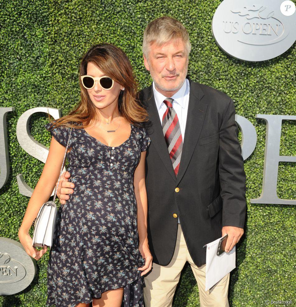 Alec Baldwin et sa femme Hilaria - People à l'ouverture de l'US Open à New York le 29 août 2016.