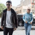Joe Jonas et sa compagne Gigi Hadid à New York, le 9 octobre 2015.
