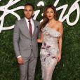"""Lewis Hamilton et sa fiancée Nicole Scherzinger à la Soirée des """"British Fashion Awards"""" à Londres. Le 1er décembre 2014"""