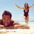 Emilie Nef Naf et Bruno Cerella à Playa Del Carmen, au Mexique, juillet 2016.