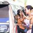 Kourtney Kardashian sur une plage à Miami avec son fils Reign Aston Disick Le 17 septembre 2016 P