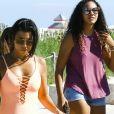 Kourtney Kardashian sur une plage à Miami avec son fils Reign Aston Disick Le 17 septembre 2016