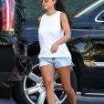 Kourtney Kardashian sort de son hôtel à Miami Le 17 septembre 2017
