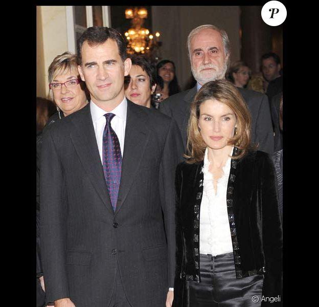 Felipe et Letizia d'Espagne au European Journalists Awards, le 26/11/08
