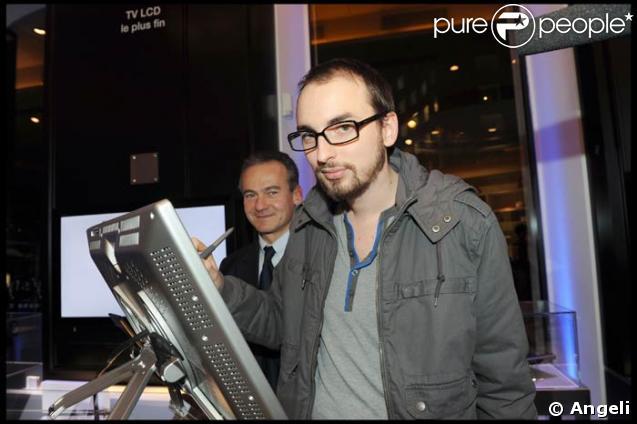 Christophe Willem à l'inauguration de la boutique Sony Style, le 26/11/08