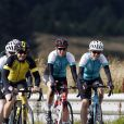 La comtesse Sophie de Wessex lors du passage de la frontière entre l'Ecosse et l'Angleterre le 19 septembre 2016 au premier jour de son périple à vélo de plus de 700 kilomètres entre Edimbourg et Londres pour les 60 ans du Prix Duc d'Edimbourg.