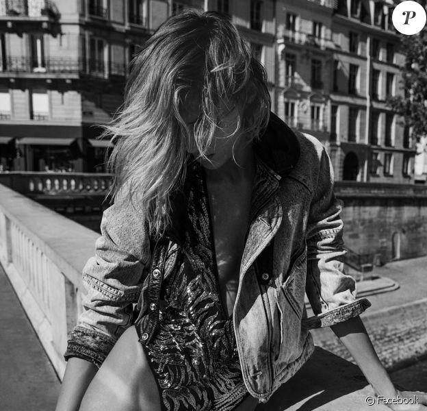 Anja Rubik pour Saint Laurent. Photo par Inez et Vinoodh.