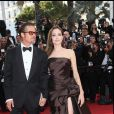 "BRAD PITT, ANGELINA JOLIE - MONTEE DES MARCHES DU FILM ""THE TREE OF LIFE"" - 64 EME FESTIVAL INTERNATIONAL DU FILM DE CANNES 16/05/2011"