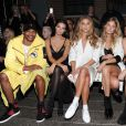 Russell Westbrook, Emily Ratajkowski, Nina Agdal, Constance Jablonski, Martha Hunt, Cara Santana - Défilé DKNY à New York, le 12 septembre 2016.