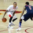 Chris Brown lors d'un match caritatif de basketball à Los Angeles, le 11 septembre 2016.