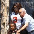 Exclusif - Blac Chyna (enceinte), la compagne de Rob Kardashian, et son fils King Cairo à Los Angeles le 25 août 2016.