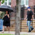 Exclusif - Blac Chyna enceinte et son fiancé Rob Kardashian sur le tournage de leur téléréalité à Washington le 4 juillet 2016.
